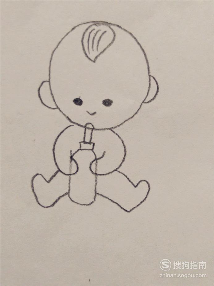 一分钟简笔画—跟我一起画婴儿 大师来详解