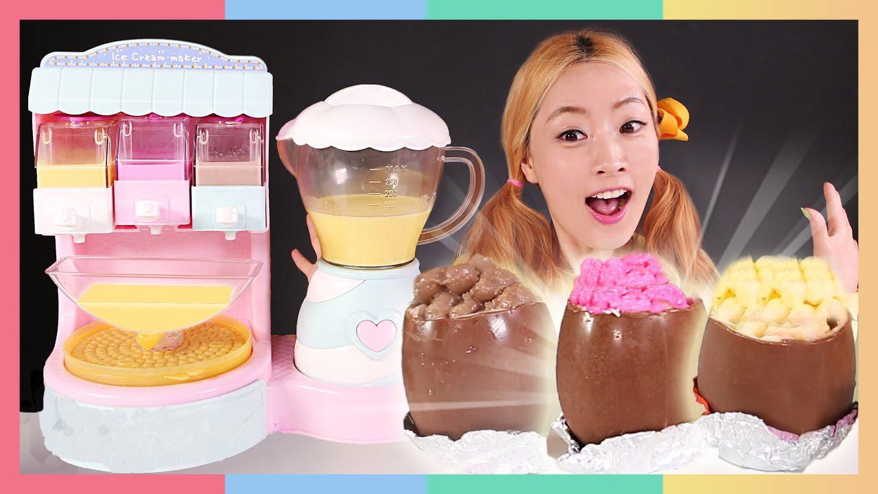 夏日最爱!DIY珍珠巧克力奇趣蛋冰淇淋 | 凯利和玩具朋友们 CarrieAndToys