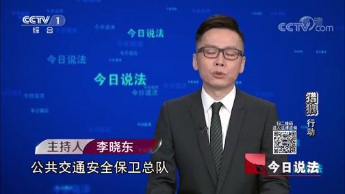 """《今日说法》 20191013 """"猎狼""""行动"""