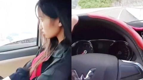提问!为何车里的妹子如此不高兴?司机表示很无奈