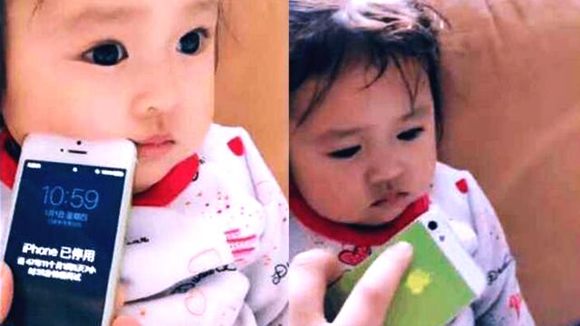 苹果手机被锁47年,爸爸把手机戳她脸上,她还假装不知道