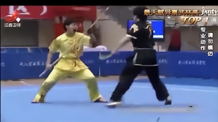真正霸气的女汉子是什么样的,来看看全国武术大赛上的女选手