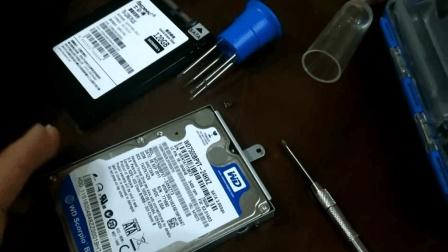 同事的联想笔记本硬盘坏了, 淘宝买的固态硬盘, 秒拆机秒换
