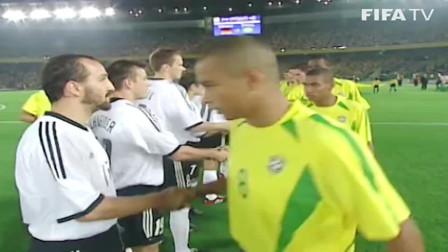 回顾2002年韩日世界杯:巴西2-0德国,巅峰五星巴西,3R最强三