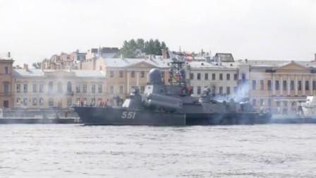 从圣彼得堡出发的俄罗斯纳努契卡级,导弹艇