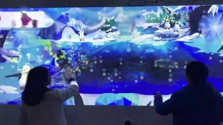 企鹅保卫战  互动小游戏 体感互动 骞毅多媒体 互动投影 墙面互动 大屏