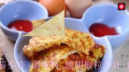 隔夜白饭还能怎么吃? 一定要试试这款米饭鸡蛋饼!