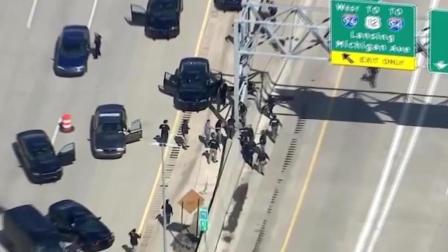 视感, 美国街头上演警匪追逐, 高速上越车跨栏