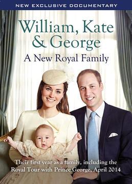 威廉、凯特和乔治新皇室家族剧照