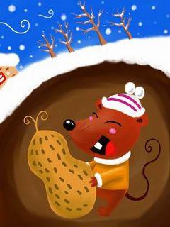 冬天里的小田鼠